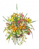 foto of flower arrangement  - Large Floral Arrangement isolated with clipping path - JPG