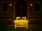 stock photo of tabernacle  - Ark of the Covenant from the Bible - JPG