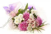 colorful festive bouquet isolated on white