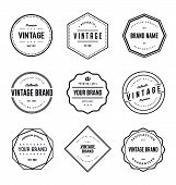 Vintage Brand Label Vector Set. Vintage Logo Label Vector poster