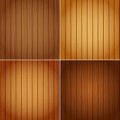 Perfect Colorful Texture of Wood in 4 Colours