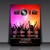 image of club party  - EPS10 Flyer Design with Dancing Young People - JPG