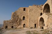 Part of the ruins of Karak Castle, Jordan, which was the main Crusader stronghold in its province of
