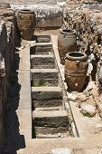 picture of minos  - Storage pits at Knossos - JPG