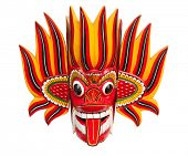 Fire Mask - Wooden Mask from Sri Lanka   Sri Lankan traditional Fire Devil mask. The Fire Devil, Gini Raksha, is supposed to subdue enemies and bring friendship and harmony.
