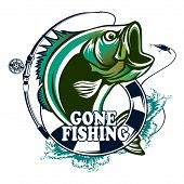 Tuna Big Fishing On White Logo Illustration. Vector Illustration Can Be Used For Creating Logo And E poster