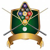 Nine Ball Emblem Design Shield