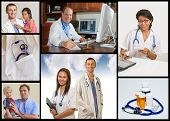 foto of medical doctors  - collection of medical images with DoctorsNurses and children - JPG
