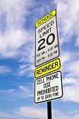 School zone reminder sign