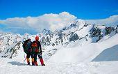 Two climbers on the Himalayan  mountain