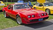 Red Pontiac Trans Am Firebird