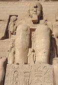 Постер, плакат: Рамсес на Храмы Абу Симбел в Египте