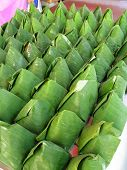 Nasi Lemak Wrapped With Banana Leaf