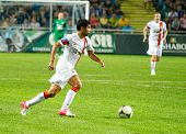 Odessa, Ukraine - August 219, 2012: Players Team Shakhtar Donetsk In The Match With Chernomorets Ode
