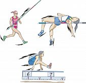 stock photo of pole-vault  - Athletics - JPG