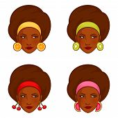 illustrations of a beautiful girl with fruity earrings