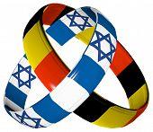 Постер, плакат: Германия и Израиль