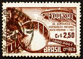 Postage stamp Brazil 1957 Symbolical of Steel Production