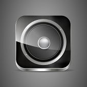 Icon Loudspeaker Vector. Audio App