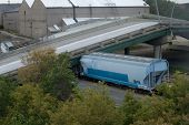 Train Trapped Under 35W Bridge Deck