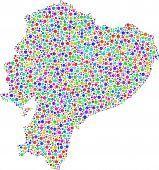 stock photo of guayaquil  - Map of Ecuador  - JPG