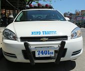 NYPD traffic control vehicle in Brooklyn, NY