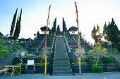 foto of hindu temple  - The Mother Temple of Besakih or Pura Besakih is the most important the largest and holiest temple of Hindu religion in Bali - JPG