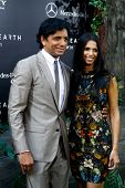 NEW YORK - MAY 29: Director M. Night Shyamalan (L) and Bhavna Vaswani attend the premiere of