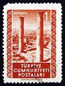 Postage Stamp Turkey 1952 Ruins, Bergama