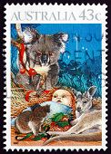 Postage Stamp Australia 1990 Nativity, Child And Koala, Christma