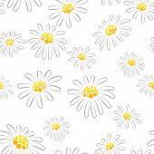 Daisy seamless pattern