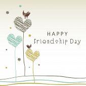 Creative Happy Friendship Day background.