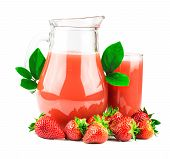 Strawberries Juice With Fresh Strawberries