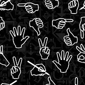Seamless hand pattern