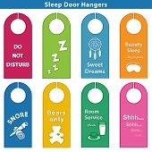Sleep Bedroom Door Hanger Signs