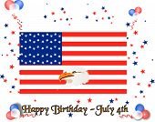 Happy 4Th Of July Birthday Usa