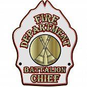 Fire Department Battalion Chief Helmet Shield
