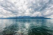 Panorama Of Geneva Lake Near Montreux
