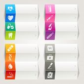 Rainbow - Medical and Healthcare icons / Navigation template