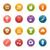 Colored Dots - Food and restaurant icons