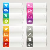 Rainbow - Social Media Icons / Navigation Template