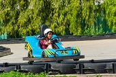 Cute Thai Girl Is Driving Go-kart