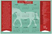 2014 Feriados e datas Calendar.eps
