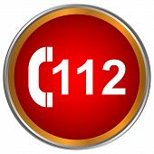 112 Rotes Symbol