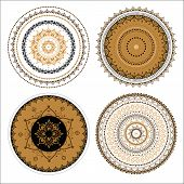 stock photo of east-indian  - Mandala set - JPG