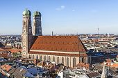 The Church Of Our Lady (frauenkirche) In Munich (germany, Bavaria).