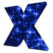 X Symbol With Night Sky Design
