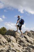 Man Finishing Hike