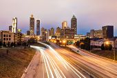 Atlanta downtown skyline during dusk