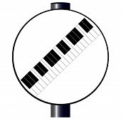 Desricted Piano Sign